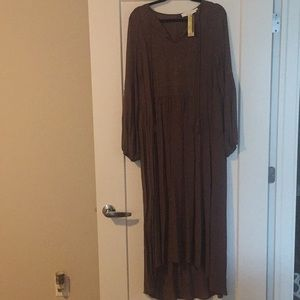 brown floor length dress- tags attached